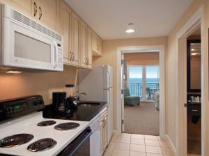 Suite kitchen at Hilton Suites Ocean City Oceanfront.
