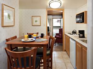 Guest kitchen at Charlton's Cedar Court.