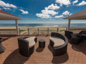 Rental beach view at Sandbridge Realty.