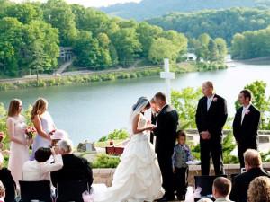 Wedding ceremony at Lake Junaluska Conference & Retreat Center.