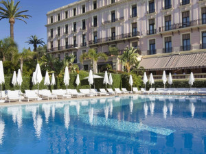 Outdoor pool at Hotel Royal Riviera.