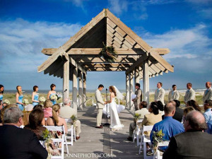 Wedding ceremony at Bald Head Island Limited.