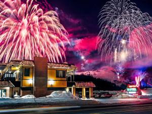 Fireworks at Rabbit Ears Motel.