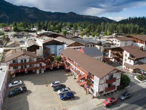 Aerial view of Obertal Inn.
