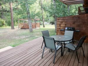 Patio view at Bear Creek Vacation Condos.