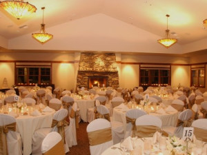 Wedding reception at FivePine Lodge.