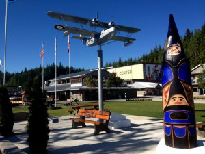 War Memorial Totem at Shearwater Resort & Marina.