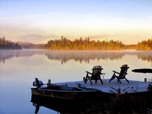 Lake view at Big Bear Lodge and Cabins.