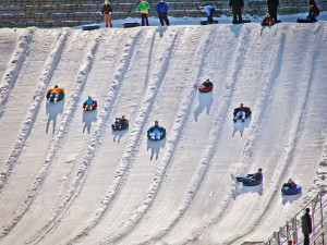 Tubing near Cabin Fever Vacations.