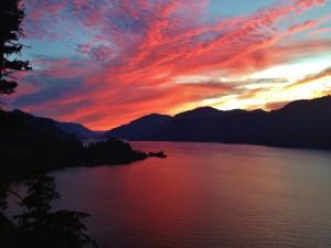 Sunset at Vagabond Lodge.