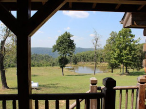 View from porch at Saddleback Lodge.