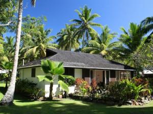 Cottage exterior at Naigani Island Resort.