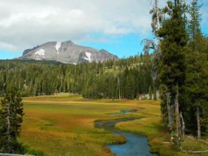 Mountain view at St. Bernard Lodge.
