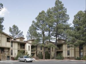 Exterior view of Village Lodge Suites.
