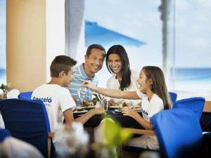 Family Dining at Barcelo Tucancun Beach