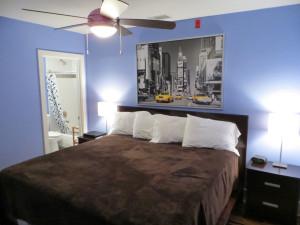Condo bedroom at York Street Condos.