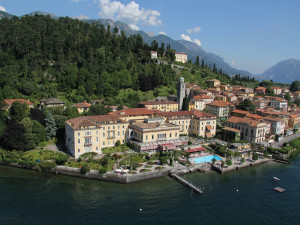 Exterior view of Grand Hotel Villa Serbelloni.
