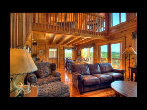 Living room view at Eden Crest Vacation Rentals, Inc. - Ostentatious Cabin Rental.