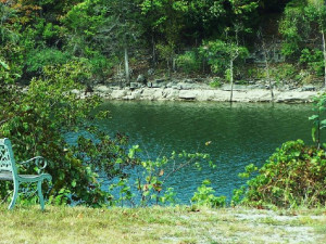 Lake view at Blue Water Bungalow.