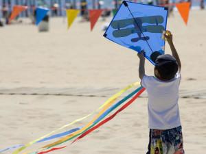 Flying at kite at The Oceanfront Inn.