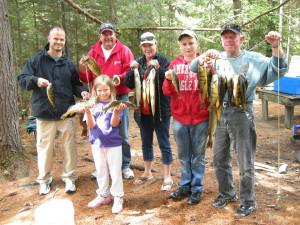 Fishing at Marten River Lodge.
