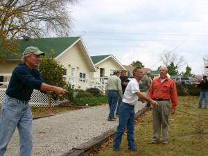 Fishing practice at River Ridge Inn.