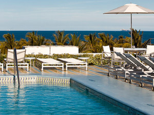 Outdoor pool at The Hotel of South Beach.