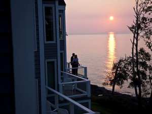 Balcony view at Bluefin Bay on Lake Superior.