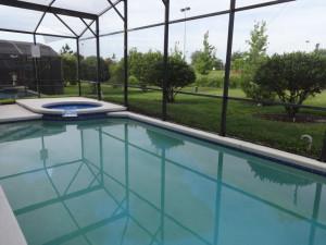 Rental private pool at Orlando Sunshine Villas.
