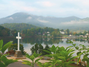 View from Lambuth Inn at Lake Junaluska Conference & Retreat Center.