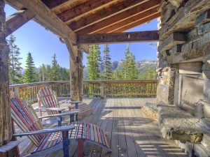 Rental deck at Big Sky Luxury Rentals.