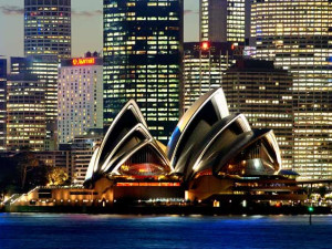 Exterior view of Sydney Harbour Marriott Hotel.