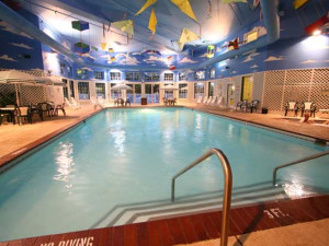 Indoor pool at Bayshore Resort.