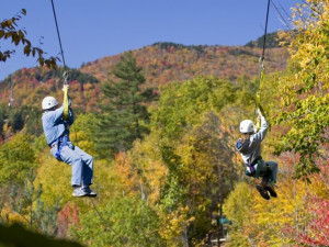 Ziplining at Washington Irving Inn