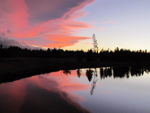 Beautiful sunset view at Sunriver Resort.