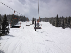 Skiing near Frisco Lodge.