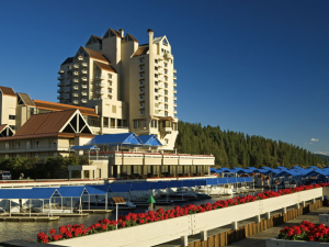 Exterior view of The Coeur d'Alene Resort.
