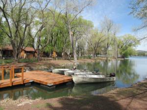 Dock at Lazy Oaks Resort.