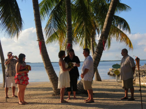 Beach wedding at Coconut Bay Resort Key Largo.