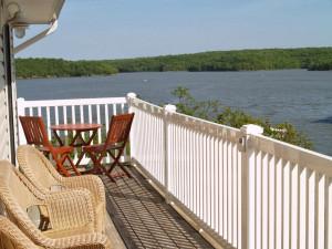Balcony view of Kapilana Resort.