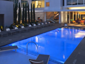 Outdoor pool at Hotel Lumen - a Kimpton Hotel.