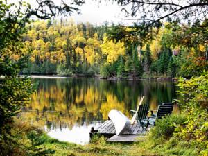 Lake view at Bearskin Lodge.