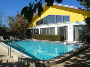 Vacation rental pool at Whispers Resort.