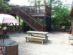 Deck view at Berry Creek, LLC.