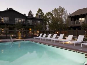 Outdoor pool at Senza Hotel.