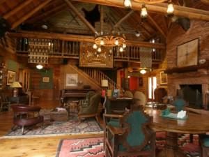 Lodge interior at The Lodge at Red River Ranch.
