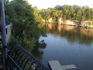 River view at Karma Riverfront Cabin Resort.