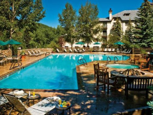 Outdoor pool at The Charter at Beaver Creek.