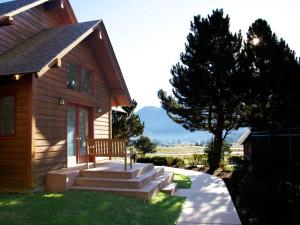 Cabin exterior at Ram's Horn Village Resort.