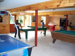 Game room at Sandy Lane Resort.